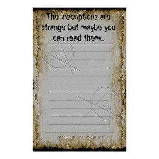 Papel de carta estrangeiro antigo do papel de nota papel personalizado