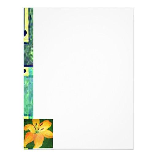Papel de carta floral