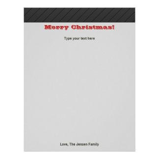 Papel de carta moderno personalizado do feriado do