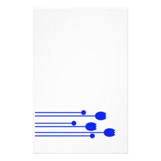Papel de carta papel de nota preto sabe blume flor papel personalizado