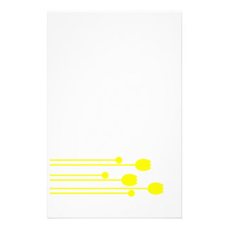 Papel de carta papel de nota preto sabe blume flor papel personalizados