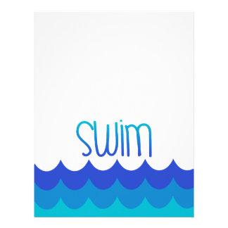 Papel de carta para o nadador
