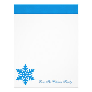 Papel de carta personalizado azul do feriado do Na