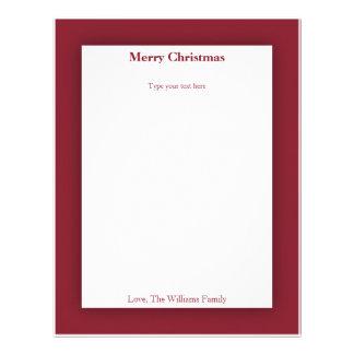 Papel de carta personalizado do feriado do Natal d