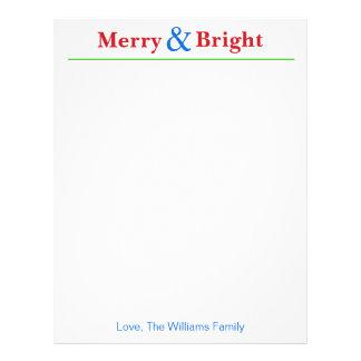 Papel de carta personalizado do feriado do Natal