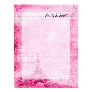 Papel de carta personalizado Paris dos namorados