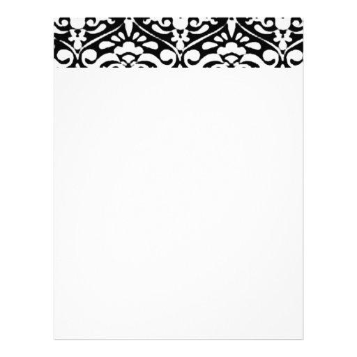 Papel de carta preto e branco tradicional da cabeç