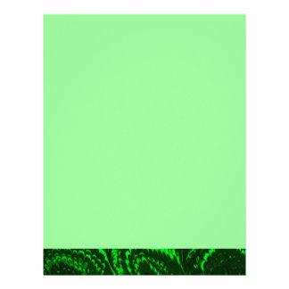 Papel de carta retro do cabeçalho do verde esmeral