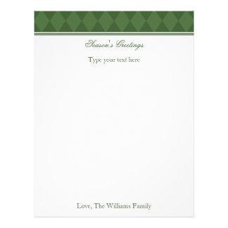 Papel de carta verde personalizado do feriado do N