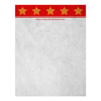 Papel de carta vermelho da letra do feriado/Natal