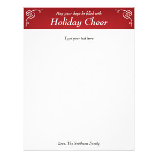 Papel de carta vermelho da letra do feriado ou do