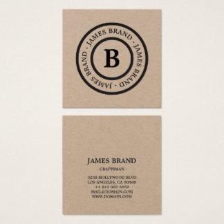 Papel de embalagem Minimalista rústico natural do Cartão De Visitas Quadrado