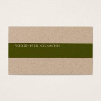 papel de embalagem superior com uma listra verde cartão de visitas