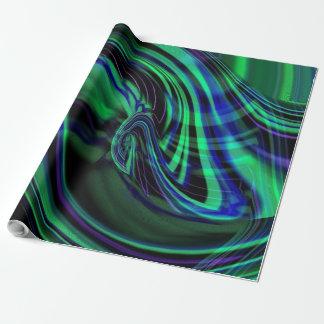 Papel de embrulho abstrato de Borealis da Aurora