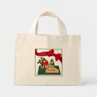 Papel de embrulho da sacola do Natal da cesta do Sacola Tote Mini