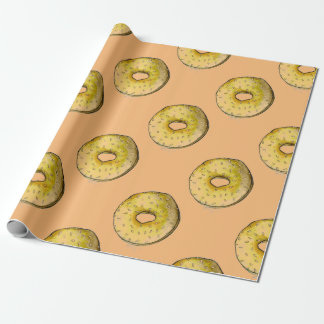 Papel de embrulho de Foodie do Bagel dos Bagels da