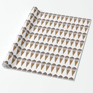 Papel de embrulho de noz de Foodie do cone do
