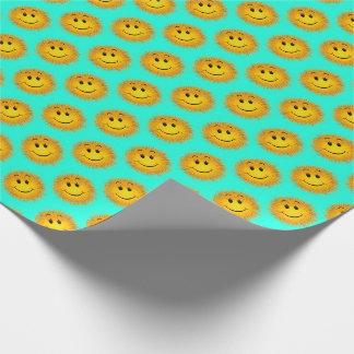 Papel de embrulho distorcido feliz super do Aqua