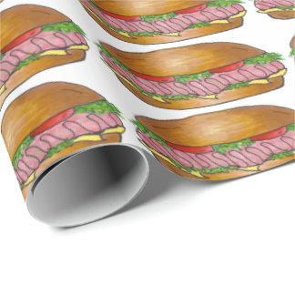 Papel de embrulho do moedor do Hoagie do sanduíche