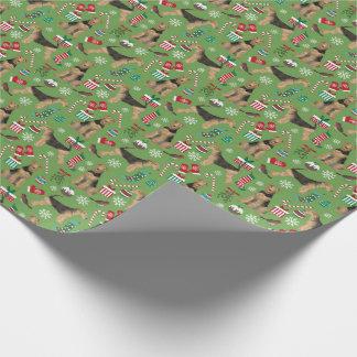 Papel de embrulho do Natal de Airedale Terrier