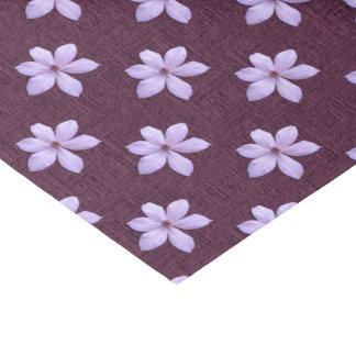 Papel de embrulho do tecido - Clematis do Lilac
