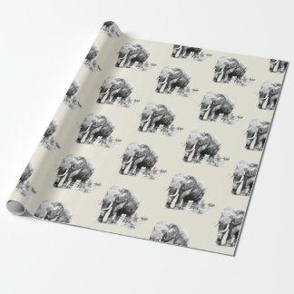 papel de embrulho dos elefantes bywhacky