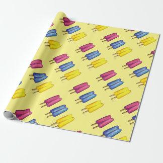 Papel de embrulho gêmeo do azul do rosa do amarelo
