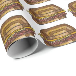 Papel de embrulho judaico de Foodie do sanduíche