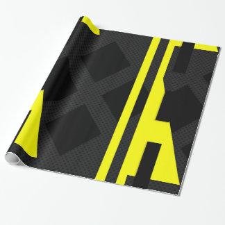 Papel de envolvimento abstrato do amarelo papel para embrulhos