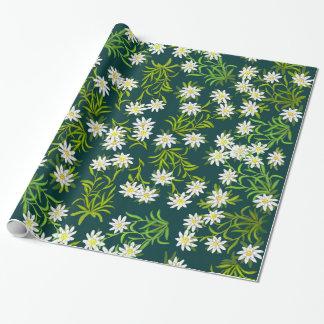 Papel de envolvimento alpino suíço das flores de papel de presente