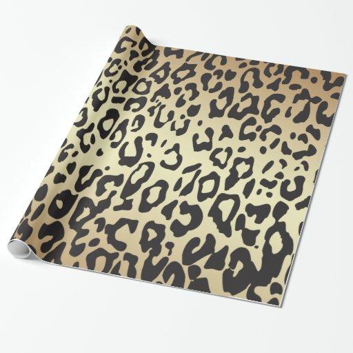 Papel de envolvimento animal do impressão da chita papel para presentes