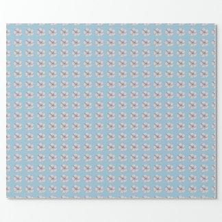 Papel de envolvimento da flor do algodão papel de presente