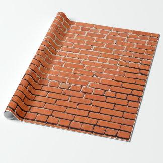 Papel de envolvimento da parede de tijolo papel de presente