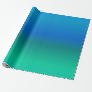 Papel de envolvimento do azul e da cerceta papel de presente