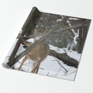 """Papel de envolvimento dos cervos, 30"""" x 6' papel de presente"""