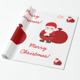 Papel de envolvimento feito sob encomenda do Natal Papel De Presente