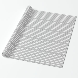 Papel de envolvimento listrado cinzento e branco papel de presente