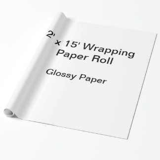 Papel de envolvimento (rolo 2x15, papel lustroso) papel de presente