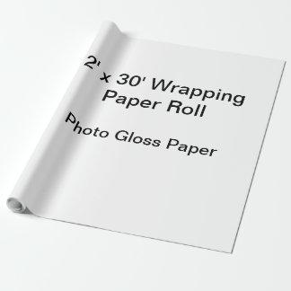 Papel de envolvimento (rolo 2x30, papel do brilho papel de presente