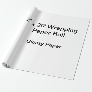 Papel de envolvimento (rolo 2x30, papel lustroso) papel de presente