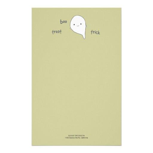 Papel de nota bonito do Dia das Bruxas do fantasma Papel Personalizados