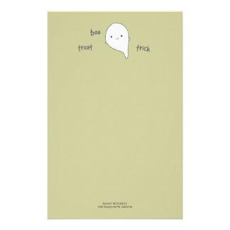 Papel de nota bonito do Dia das Bruxas do fantasma Papelaria