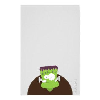 Papel de nota bonito do monstro   o Dia das Bruxas Papel Personalizado