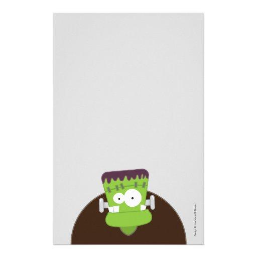 Papel de nota bonito do monstro | o Dia das Bruxas Papel Personalizado
