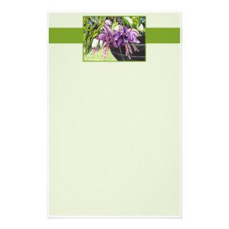 Papel de nota - cesta fúcsia de Lisa das flores Papeis Personalizados