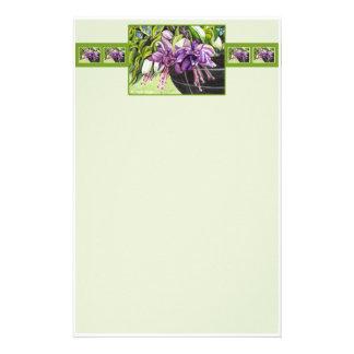 Papel de nota - cesta fúcsia de Lisa das flores Papelaria