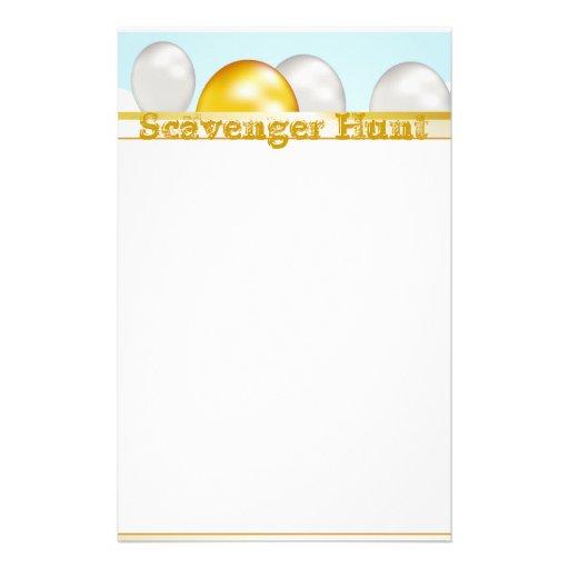Papel de nota da caça ao tesouro papel personalizados