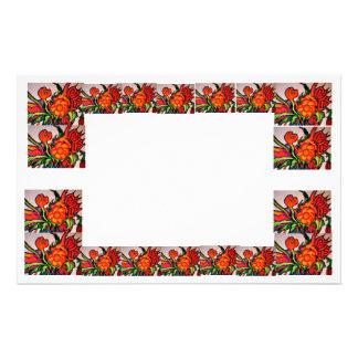 Papel de nota da flor papel personalizados