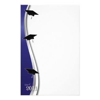 Papel de nota da graduação de 2011 azuis papelaria
