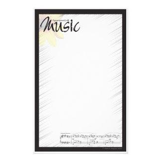 Papel de nota da música papeis personalizados